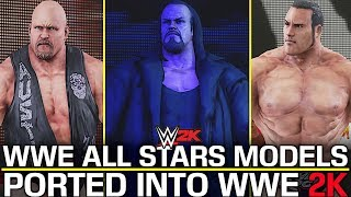 WWE ALL STARS MODELS PORTED INTO WWE 2K! (WWE 2K MODS)
