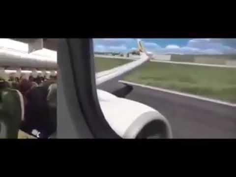 Падение Боинг 737 в Тегеране (видео снято из кабины  пилотов и салона самолета) Crash Of A Boeing
