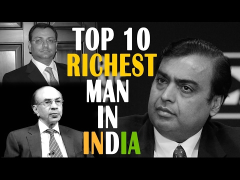 Top 10 Richest Persons of India 2017(informative video)