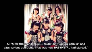 Perfume talked about their junior fellows, BABYMETAL. A: A-chan N: ...