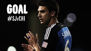 GOAL: Shea Salinas with a fantastic run and curler | San Jose Earthquakes vs Chicago Fire