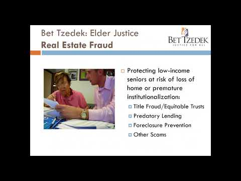 Elder Financial Exploitation: Real Estate Fraud Litigation