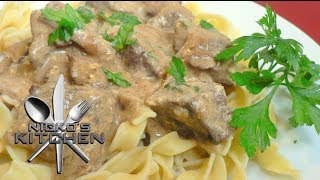 Easy Beef Stroganoff - Video Recipe