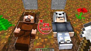 AİLECEK 24 SAAT MEZARDA KALDIK! 😱 - Minecraft