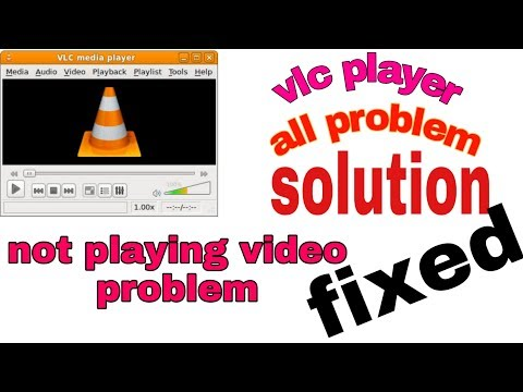 vlc media player black screen with sound   vlc player not showing video windows 10 - 2018 in hindi