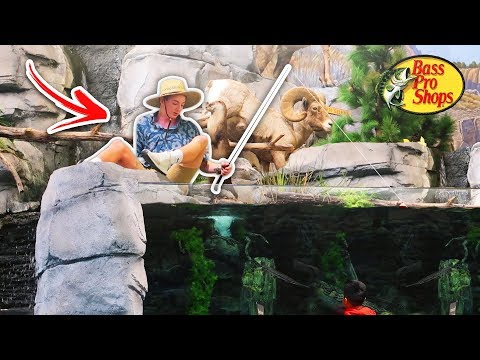 Fishing at BASS PRO SHOPS in the GIANT TANK PRANK (ESCORTED OUT)