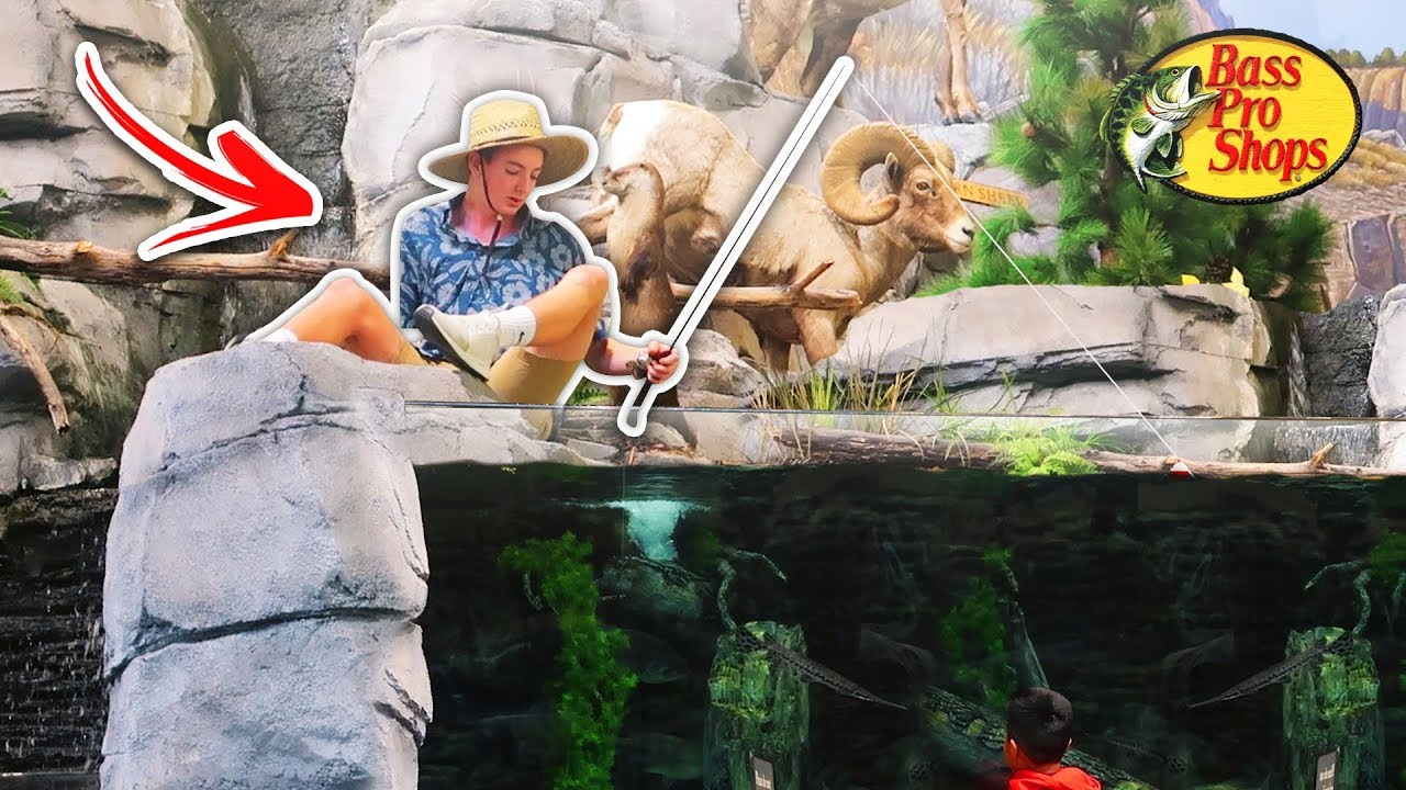 Fishing At Bass Pro Shops In The Giant Tank Prank Escorted Out Youtube