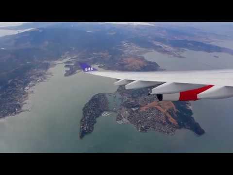 SAS A340 Takeoff from San Francisco (SAS 936  || SFO-CPH  || LN-RKG)