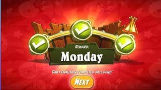 Monday daily challenge in angry birds 2