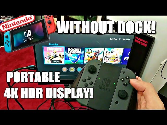How To Connect Nintendo Switch Without The Dock Station With A Portable 4k Hdr Display Youtube