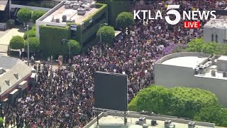 Protesters crowd Los Angeles streets, continuing nationwide unrest over George Floyd killing