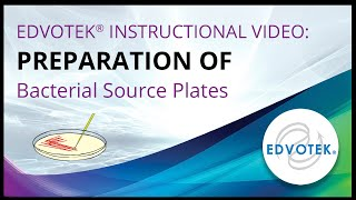 Preparation of Bacterial Source Plates - Edvotek Video Tutorial