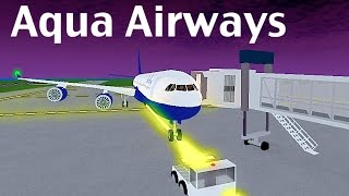 ROBLOX | Aqua Airways A340-600 Flight