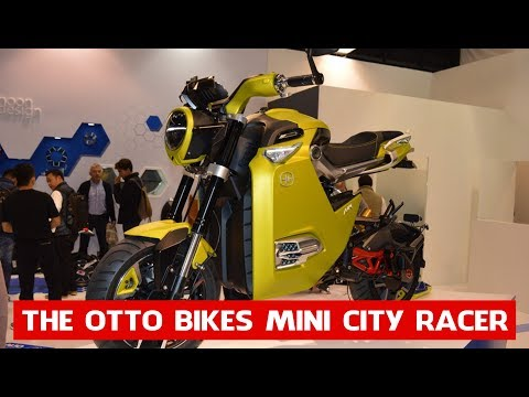 The Otto Bikes Mini City Racer | Electric mini bike augments commuting with extended connectivity