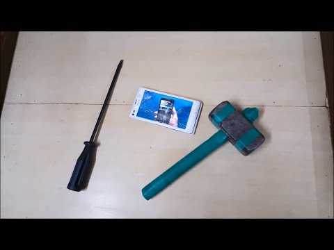 SONY XPERIA L HAMMER AND SCREWDRIVER TEST BENG.. BENG !