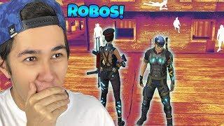 FREE FIRE DO FUTURO! COMPRAMOS AS NOVAS ROUPAS DE ROBOS! (Duo vs Squad)