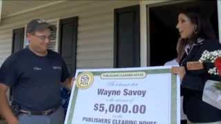 Publishers Clearing House Winner - Wayne Savoy Of LA June 2012