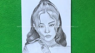 How to draw jennie blackpink  blackpink drawing tutorial step by step for beginner  learn to draw