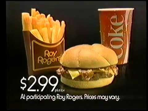 1986 Roy Rogers Restaurant Commercial