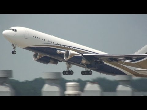 Private Boeing 767 Heavy Take Off