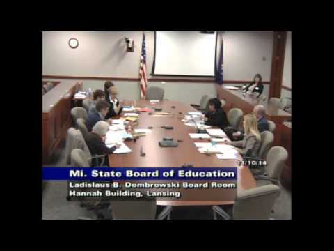 Michigan Department of Education Special Meeting for November 11, 2014