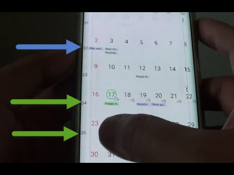 Samsung Galaxy S6 Edge: How to Show / Hide Week Numbers in S Planner  Calendar