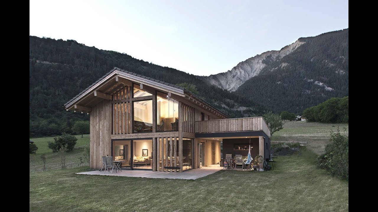 Dise o de casa de campo construida con madera youtube for Diseno de casas de campo modernas