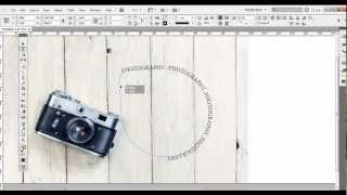 Adobe InDesign Tutorial: Type on a Path Tool