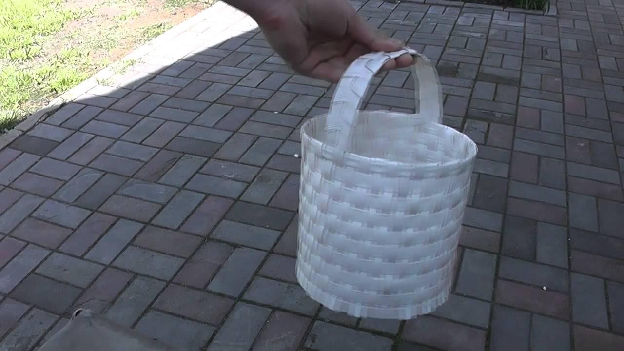 инструкция как плести карзинки из пластиковой ленты