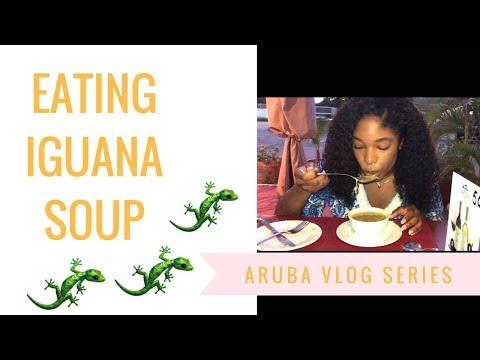 Eating Iguana soup
