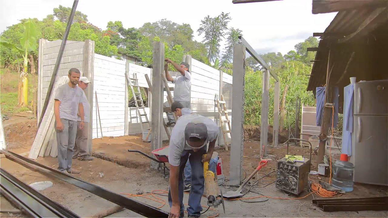 Casa de concreto prefabricada en un d a youtube - Construcciones de casas ...