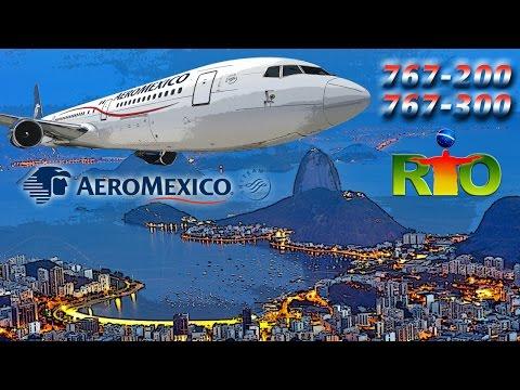 AEROMEXICO Cockpit Boeing 767 to RIO!