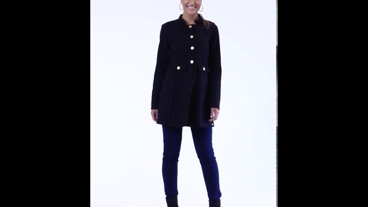 6558c185f Sobretudo com botões preto e Calça jeans jegging - Quintess | Posthaus