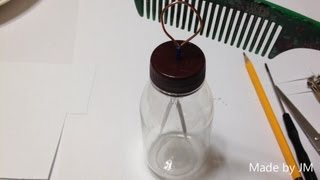 Plastic bottle Electroscope experiment