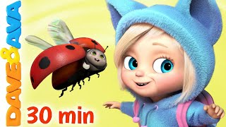 🐞 Five Little Ladybirds and More Nursery Rhymes | Baby Songs by Dave and Ava 🐞
