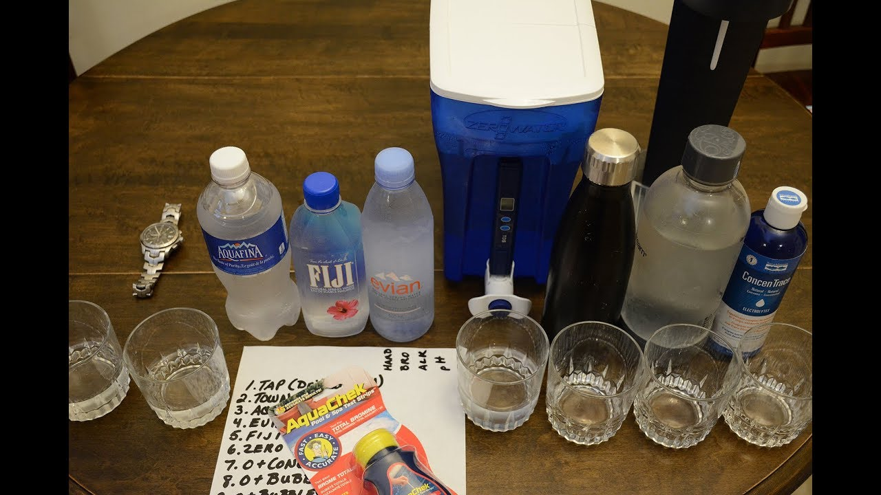 0 Zero Water pH and Alkalinity - with Fiji, Evian, Aquafina, Sodastream, &  Remineralization