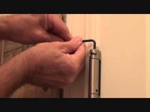 How to adjust a self closing door hinge