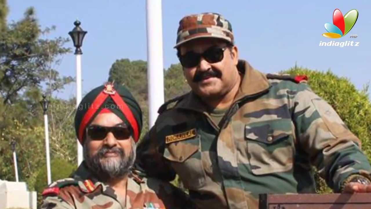 Mohanlal In Jammu And Kashmir Border  Hot Malayalam -9070