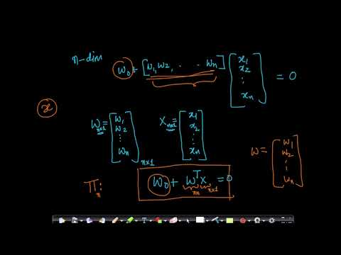Equation of a line (2-D), plane(3-D) and hyperplane (n-D) @Applied AI Course