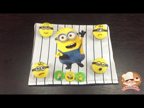 MINIONS MUFFIN RECIPES for Kids  Easy recipes that kids can make - Minions Theme
