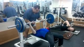 Жим штанги лежа 110 кг - собственный вес 67,5