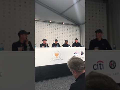 Matt Kuchar runs the first five minutes of Team USA's Presidents Cup press conference