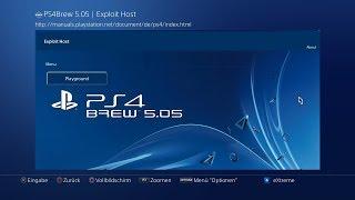 PS4Brew 5.05 - ESP8266 Exploit Host