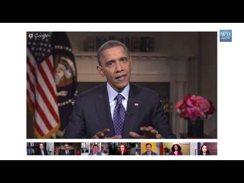 President Obama On Gun Safety In A Google+ Hangout - Part 1