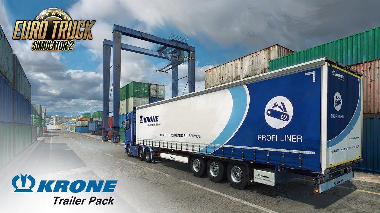 Euro Truck Simulator 2 Krone Trailer Pack Trainer Free