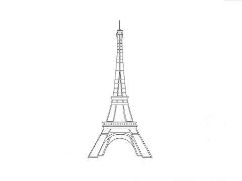 Как нарисовать башню поэтапно