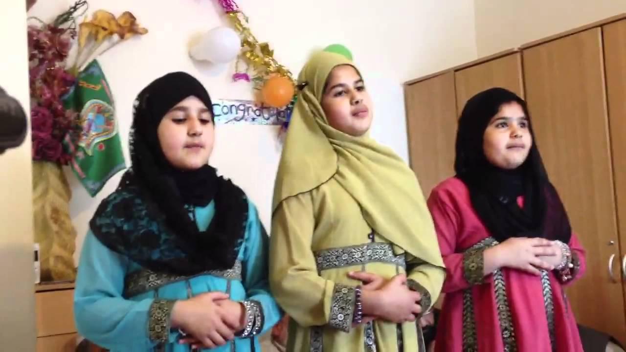 Little Girls Reciting A Beautiful Naat