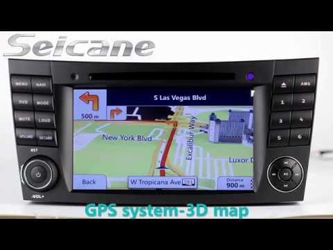 Seicane 2002-2008 Mercedes Benz E Class W211 radio dvd player gps navigation support Bluetooth