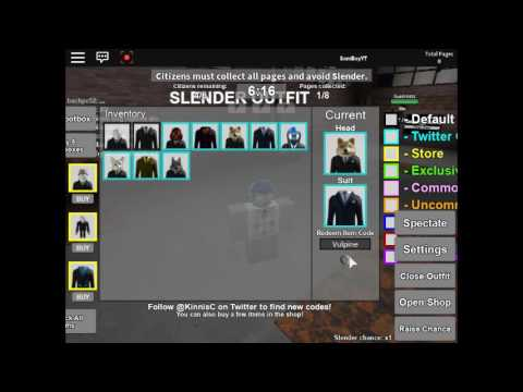 ROBLOX | How to get all Heads and Suits in Stop it slender ...