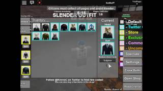 ROBLOX - France Comment obtenir tous les heads and Suits in Stop it slender 2 code (fr) (TERMINÉ)